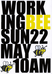WORKING BEE POSTER